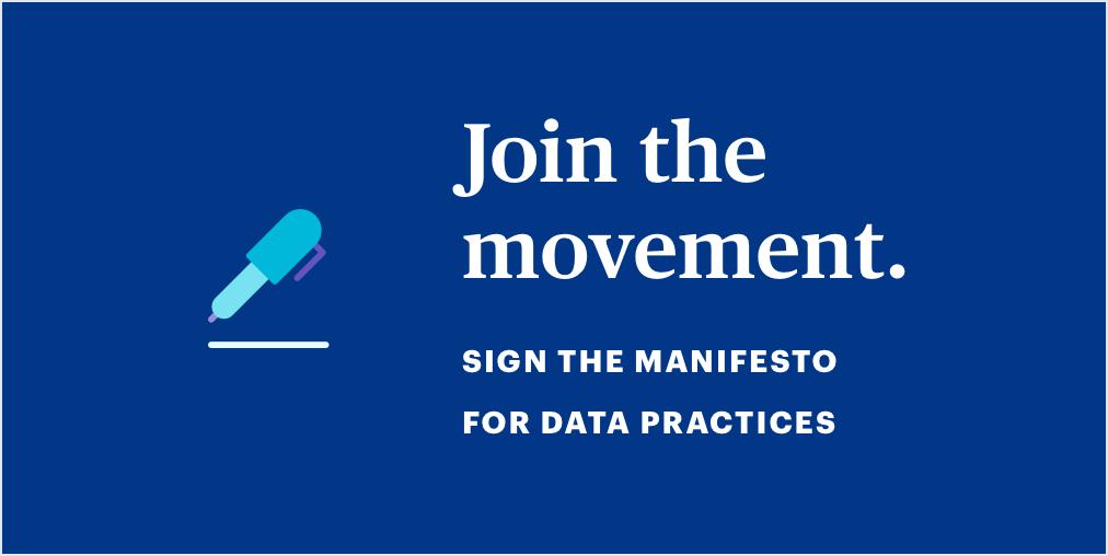 Manifesto for Data Practices
